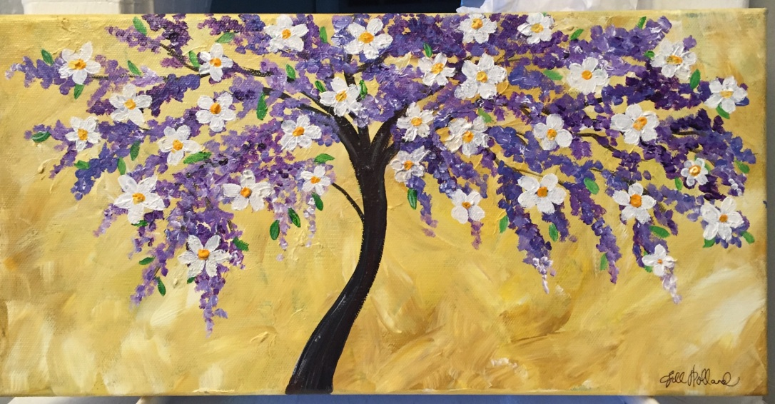 flower-tree painting