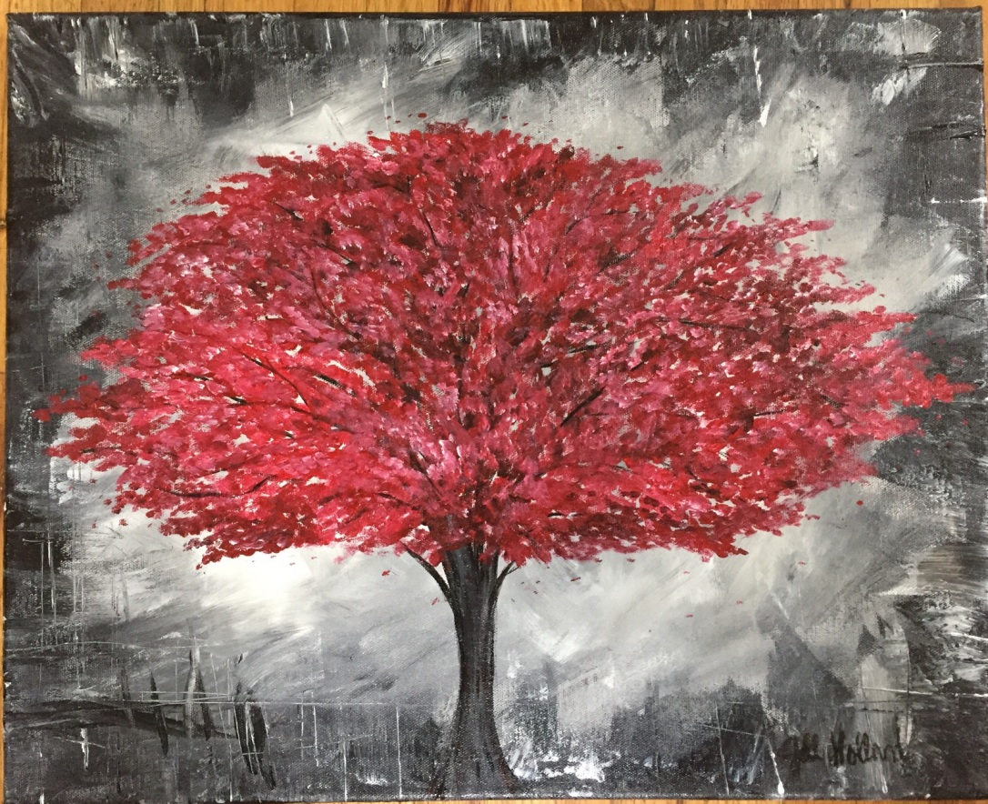 tree in red